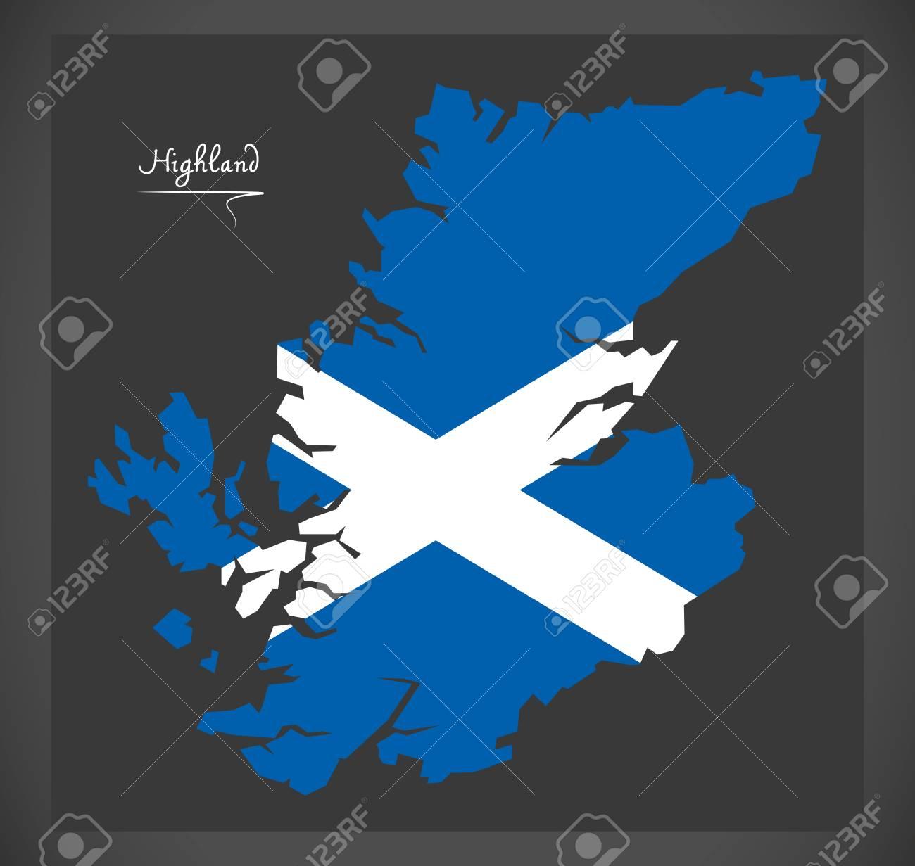 Highland of Scotland map with Scottish national flag illustration on scotland x france, scotland map outline, island of islay scotland map, scotland map google, scotland county map, scotland shortbread recipe, scotland beach, scotland name map, scotland community, scotland on map, scotland map large, scotland lion, scotland travel map, silhouette scotland map, scotland football map, scotland tattoo, scotland road map,