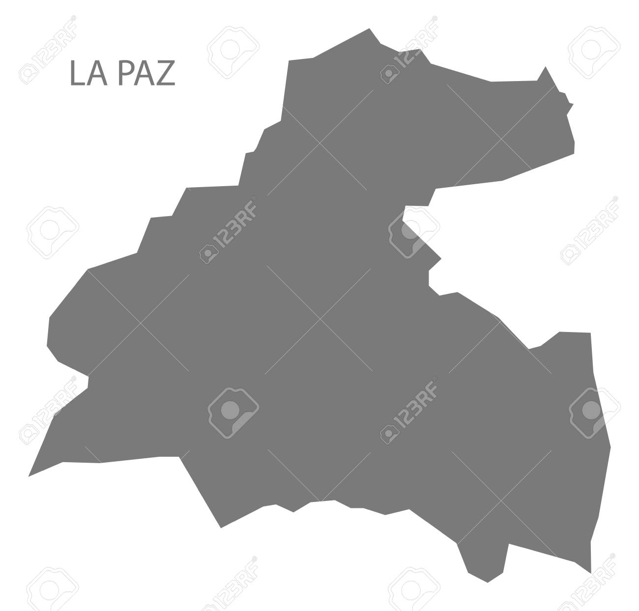 La Paz Honduras Map La Paz Honduras Map Grey Illustration Silhouette Royalty Free