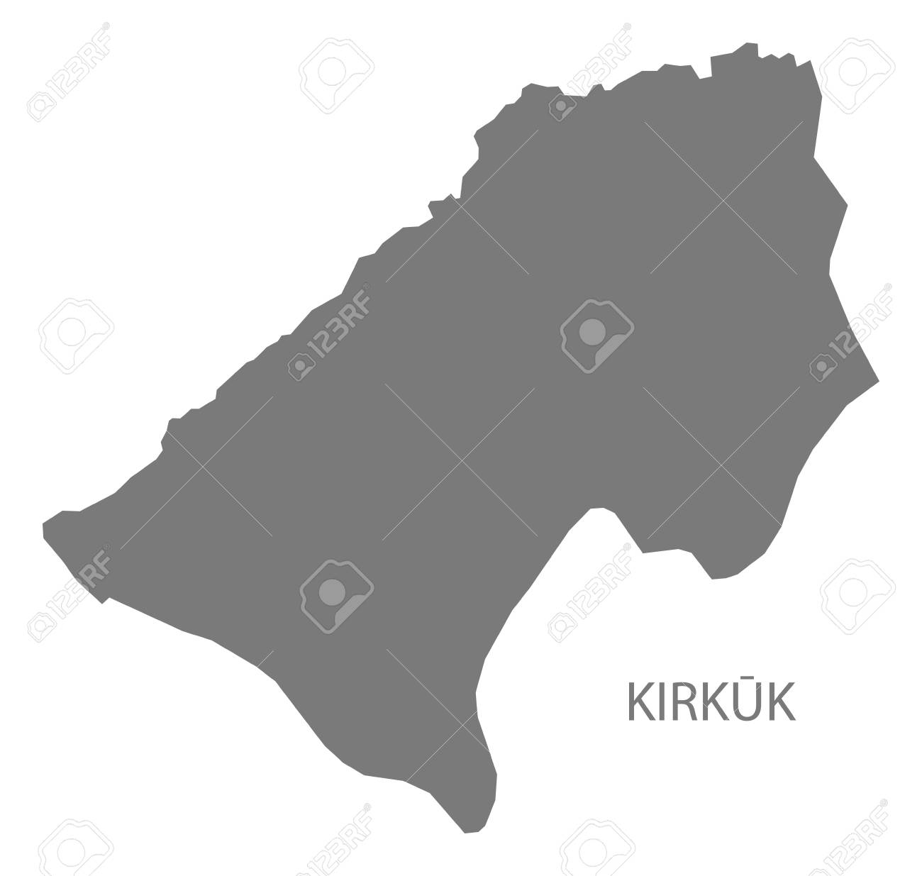 Kirkuk Iraq Map Grey Illustration Silhouette Royalty Free Cliparts
