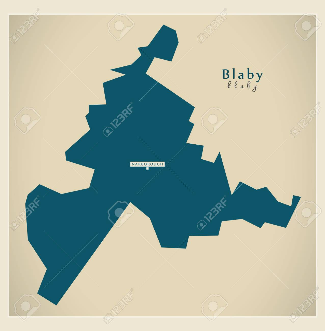 Leicestershire Uk Map.Modern Map Blaby District Of Leicestershire England Uk