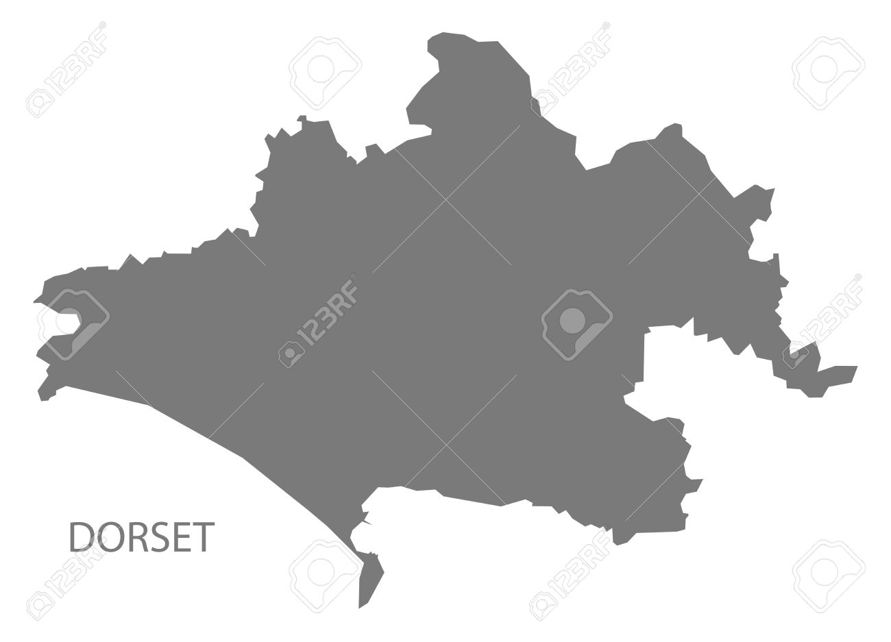 Map Of Uk Dorset.Dorset County Map England Uk Grey Illustration Silhouette Shape