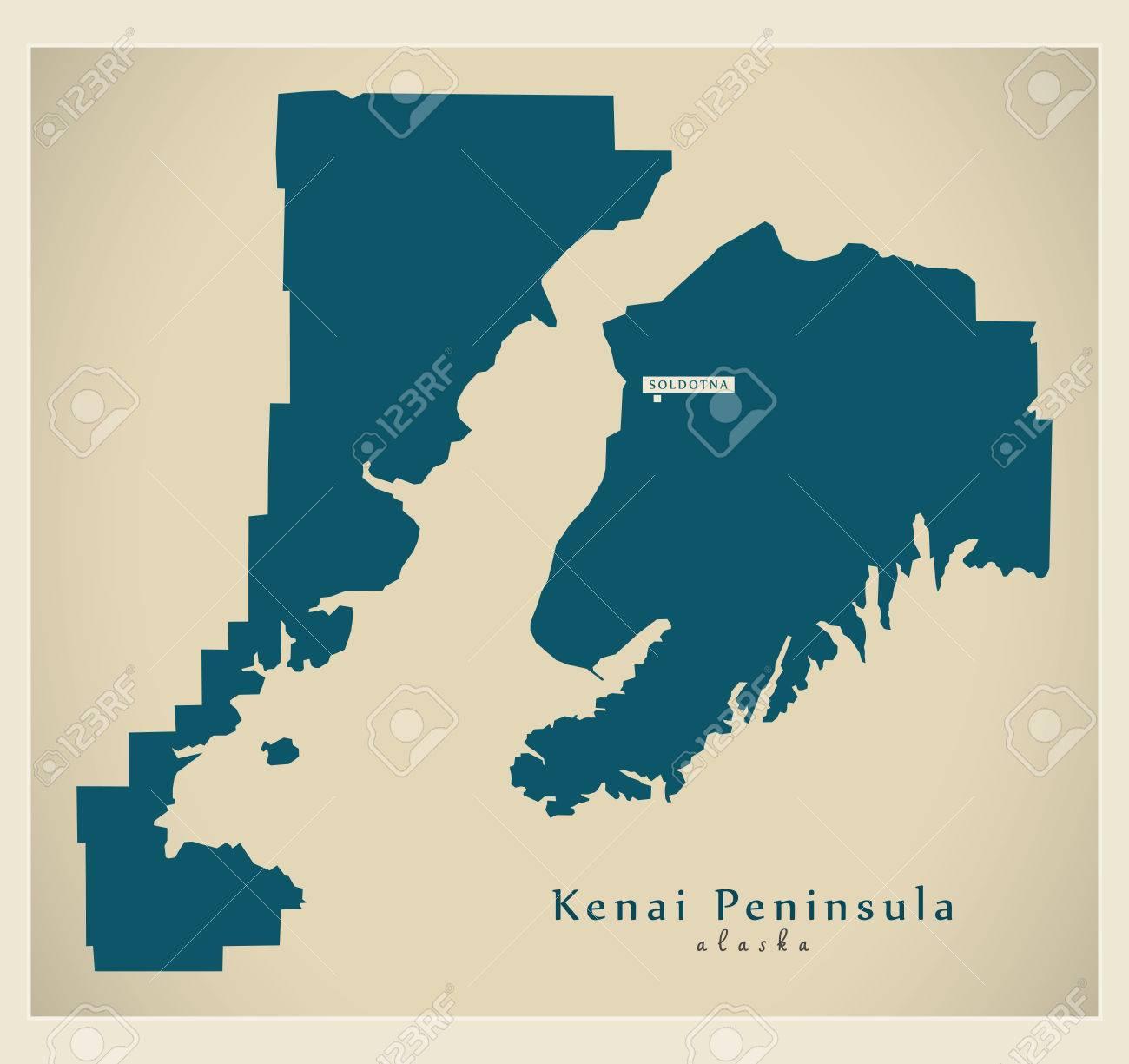 Modern Map - Kenai Peninsula Alaska county USA illustration on moose pass map, kenai peninsula borough, cook inlet map, alaska north slope, idaho map, nanwalek map, bethel map, olympic peninsula map, tyonek ak map, kenai fjords national park, virginia peninsula map, michigan's upper peninsula map, inside passage, wrangell mountains, washington peninsula map, resurrection bay, alaska peninsula, alaska map, california peninsula map, chitina river map, prince william sound, chugach mountains, matanuska-susitna valley, palmer peninsula map, cook inlet, kachemak bay map, soldotna map, russian river, yakima peninsula map, alexander archipelago, saint elias mountains, anchorage map, katmai national park and preserve map, seward peninsula, matanuska valley map,