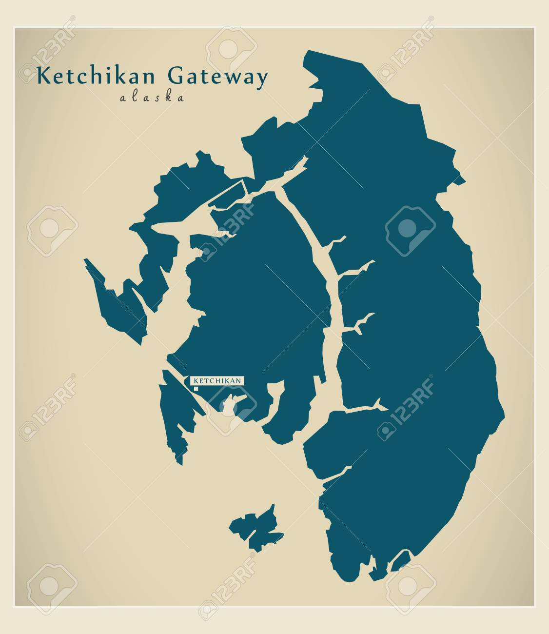 Modern Map - Ketchikan Gateway Alaska county USA illustration on sitka alaska, outline map of alaska, juneau alaska, map of homer alaska, large print map of alaska, map of wasilla alaska, map of southeast alaska, map of naknek alaska, juno alaska, ketchican alaska, skagway alaska, map of seward alaska, map of alaska inside passage, map of kotzebue alaska, map of craig alaska, map of alaska and canada, map of vancouver bc, road map of alaska, map of denali alaska, map of hoonah alaska,