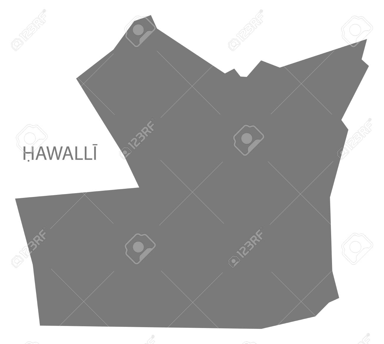 Hawalli Province Map Of Kuwait Royalty Free Cliparts Vectors And