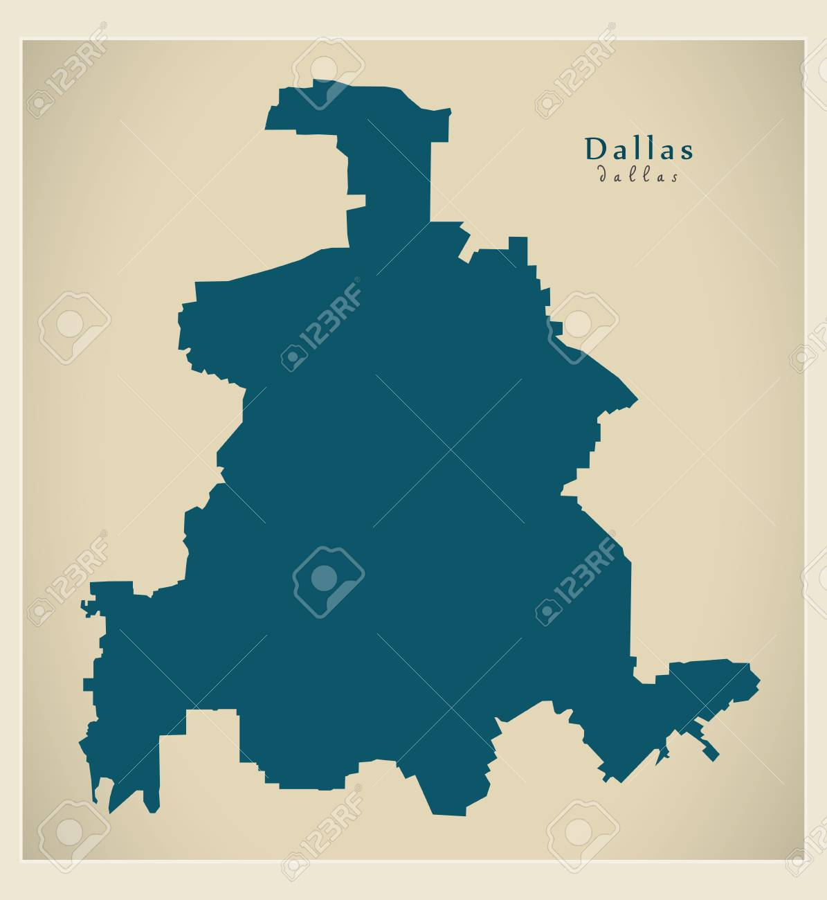 Map Of Texas City.Modern Map Dallas Texas City Of The Usa Royalty Free Cliparts