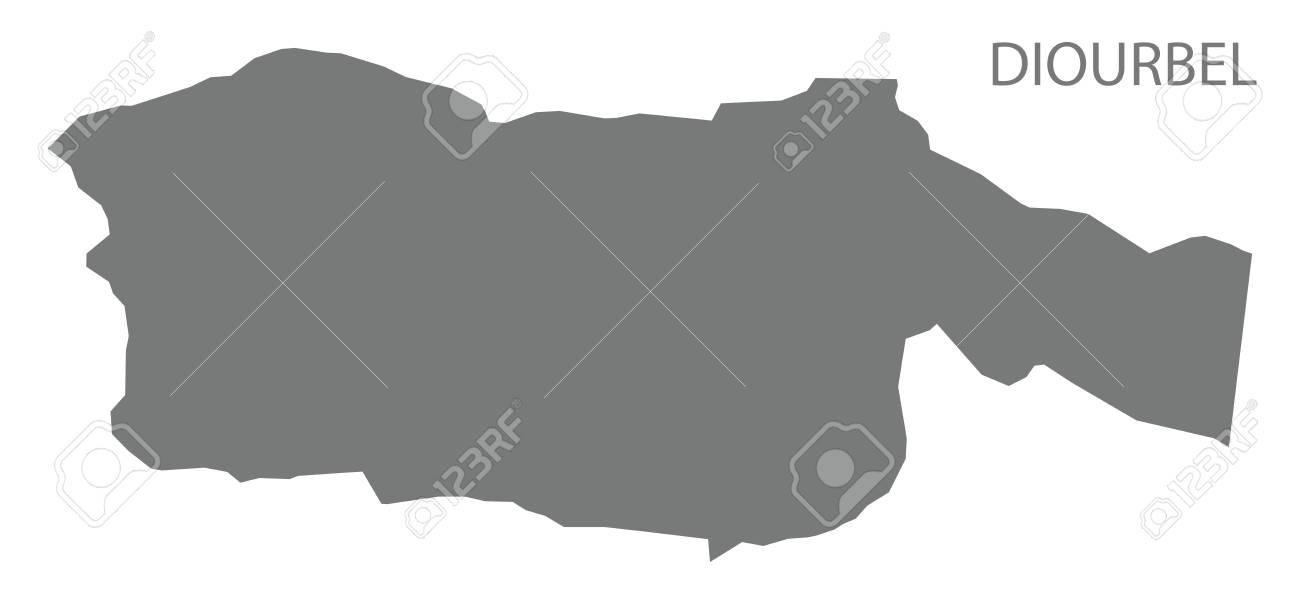 Diourbel Map Of Senegal Grey Illustration Silhouette Shape Royalty