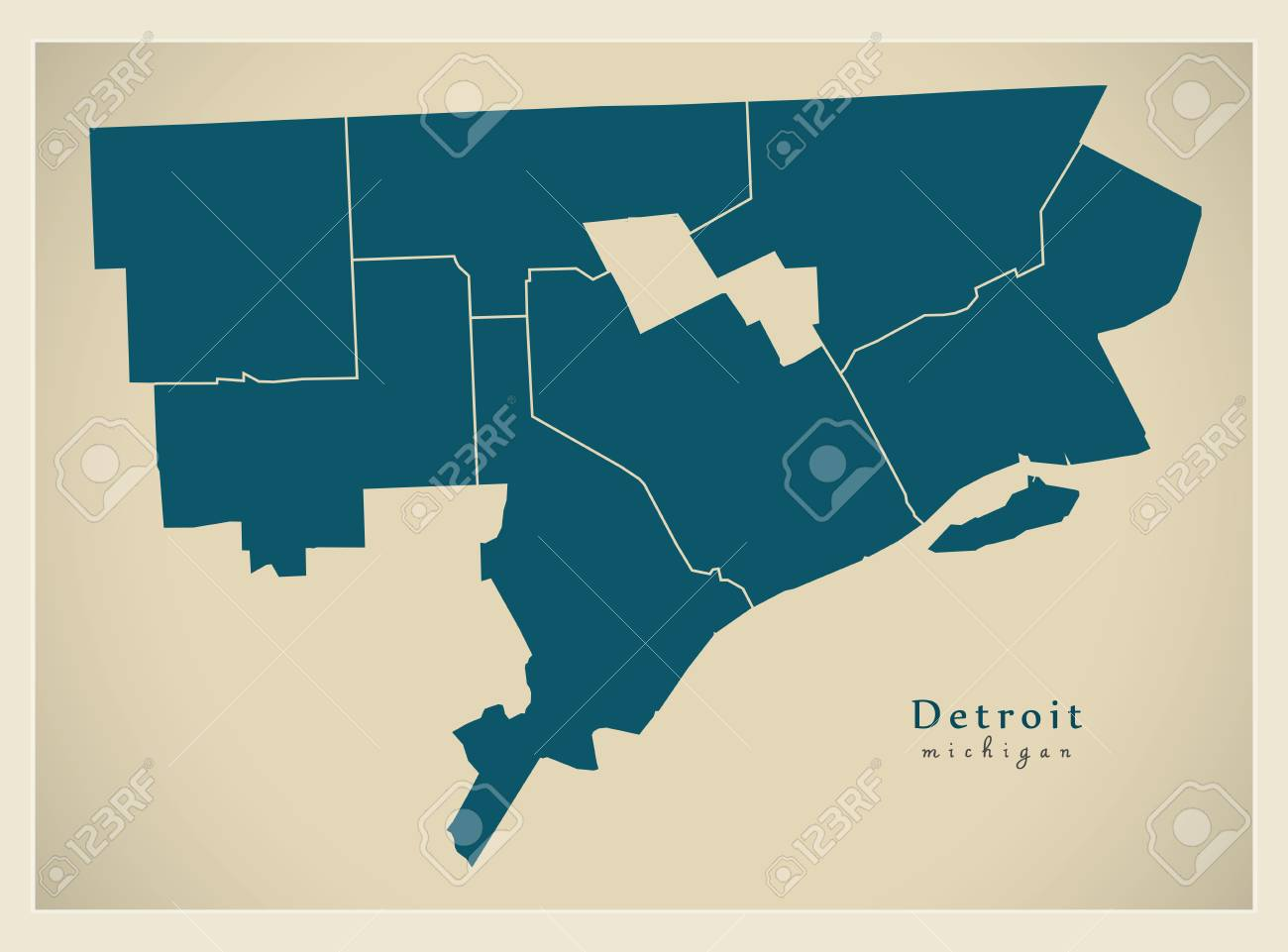 Modern City Map - Detroit Michigan city of the USA with districts on map of porter county, map of st. john, map of braddock, map of granger, map of ray, map of monon railroad, map of lawrenceburg, map of detroit, map of beverly shores, map of turkey run state park, map of dubois county, map of kalamazoo, map of kewaunee, map of new carlisle, map of ironwood, map of rossville, map of lansing, map of batesville, map of kendallville, map of indiana,