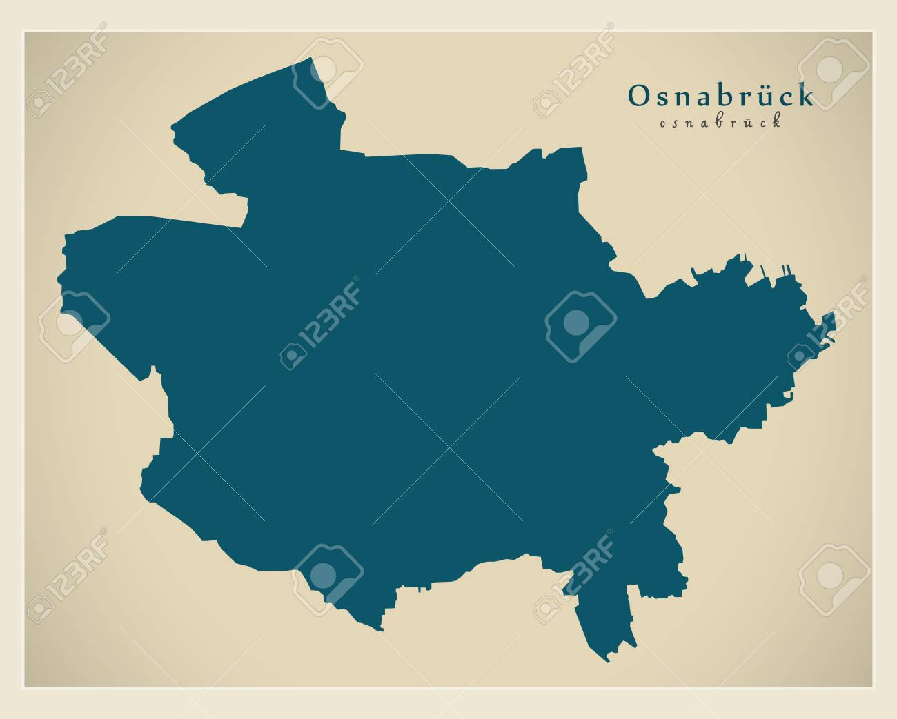 Modern City Map Osnabruck City Of Germany DE Royalty Free Cliparts