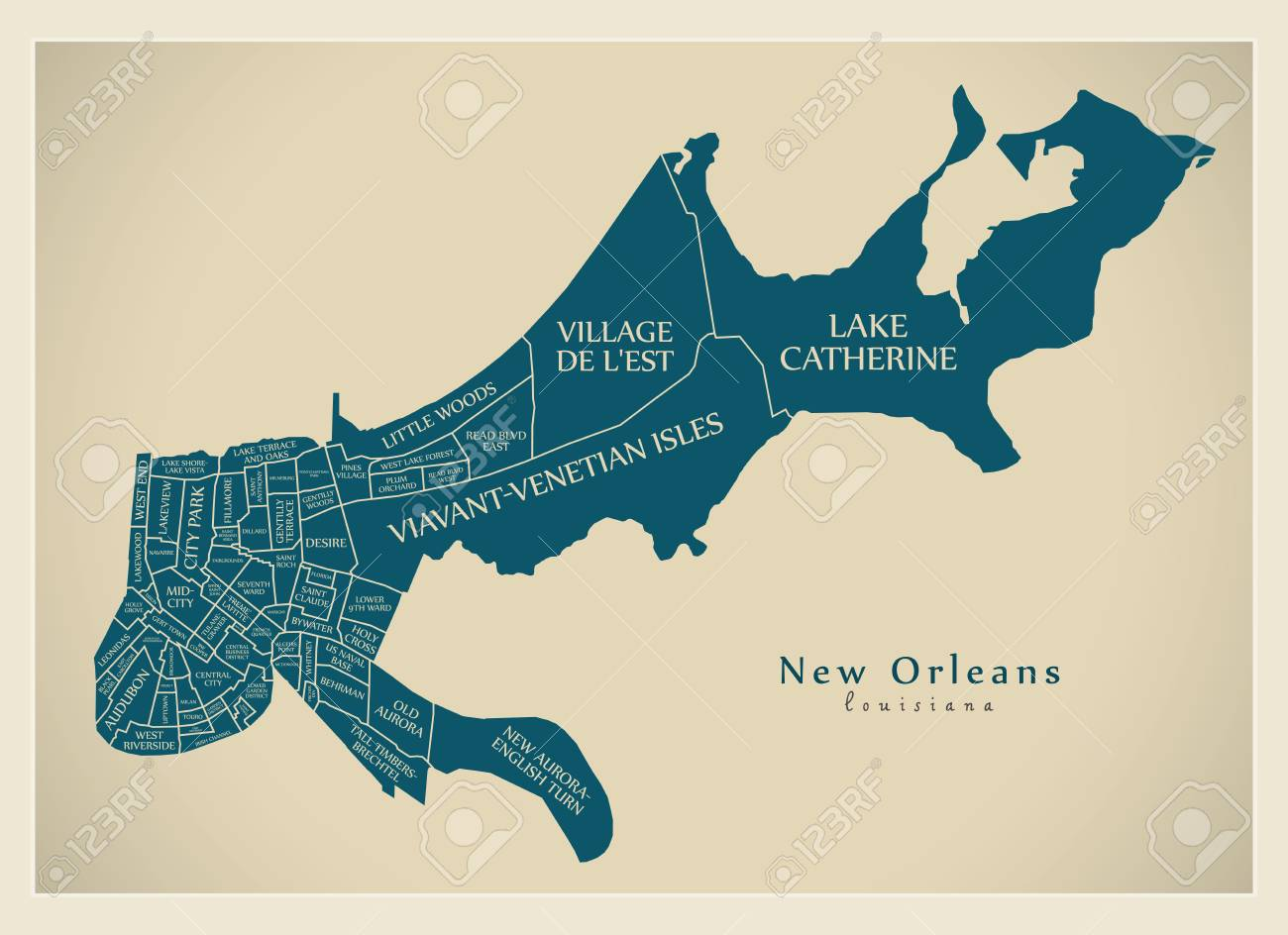 Modern City Map - New Orleans Louisiana city of the USA with.. on florida map, shreveport louisiana map, norco louisiana map, los angeles california map, atlanta georgia map, grand isle louisiana map, san francisco california map, louisiana on us map, bossier city louisiana map, covington louisiana map, philadelphia map, baton rouge zip code map, alabama louisiana map, gettysburg pennsylvania map, america louisiana purchase map, natchez map, southern louisiana map, montgomery alabama map, orleans parish map, new louisiana profile map,
