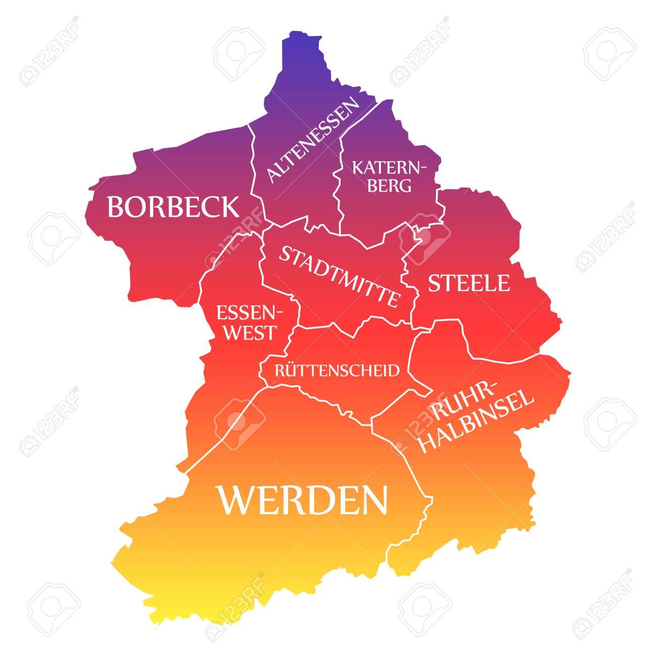Map Of Germany Essen.Stock Illustration