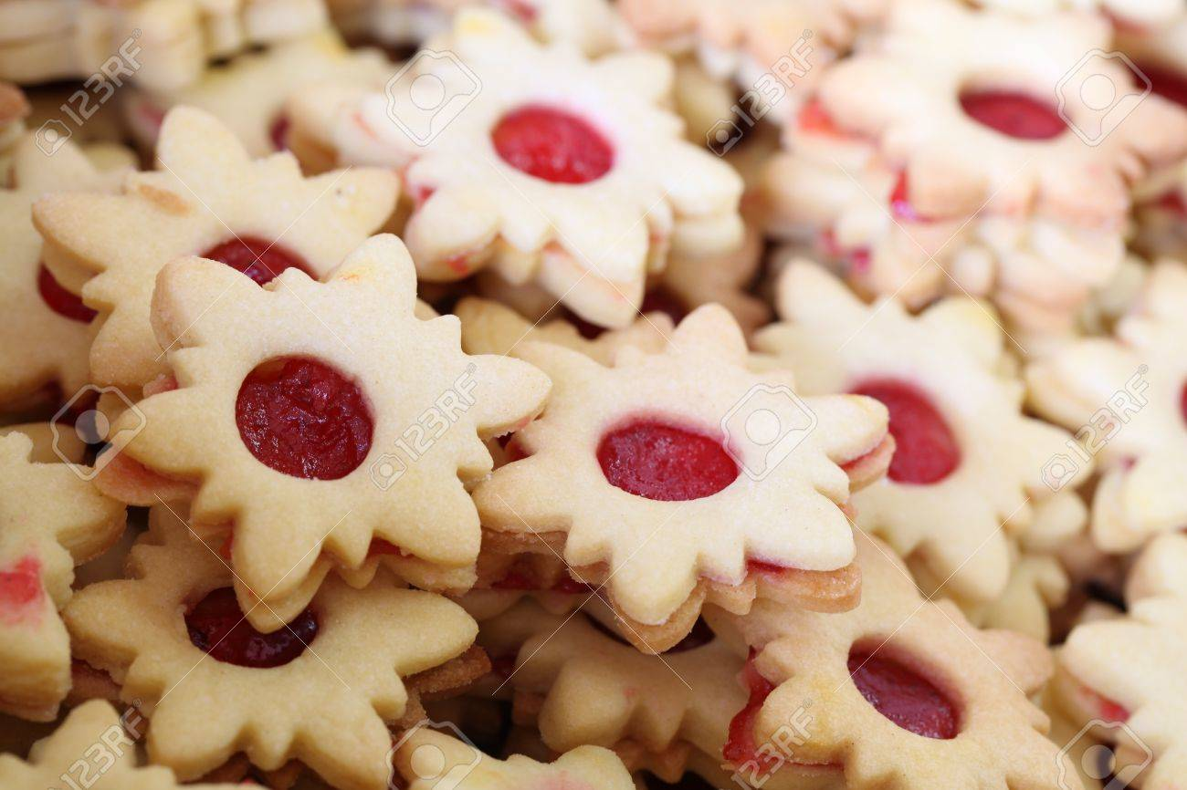 Shortbread Cookies Traditional Czech Christmas And Wedding