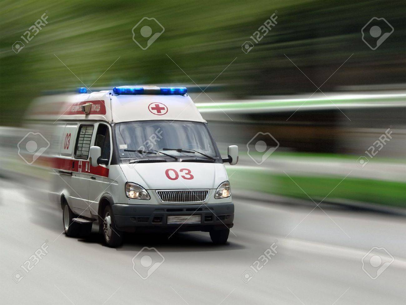 The ambulance car hastens for the aid Stock Photo - 5538155