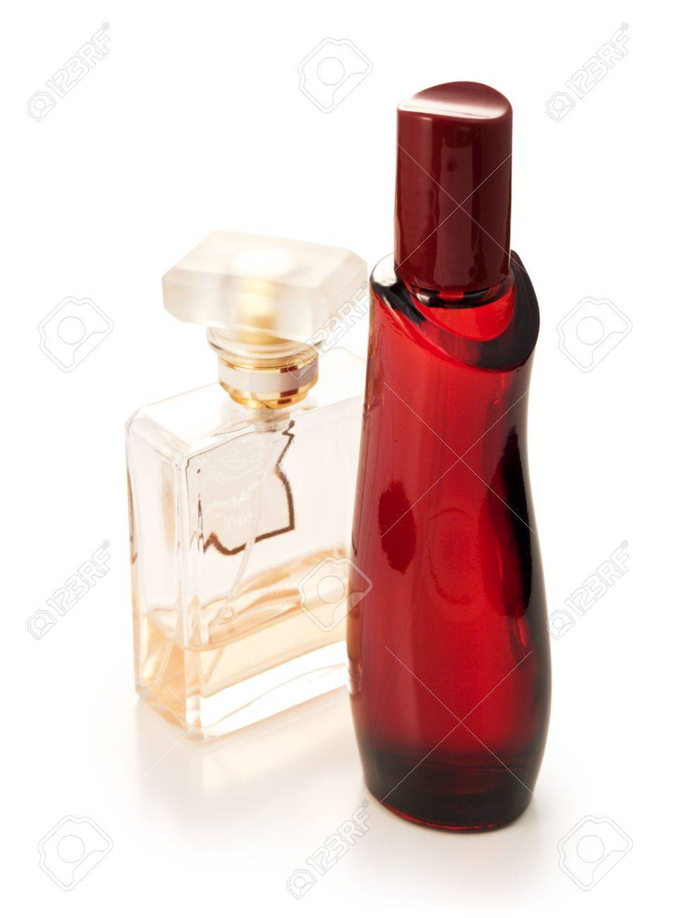 bottles of perfume and toilet water on a white background Stock Photo - 5552969