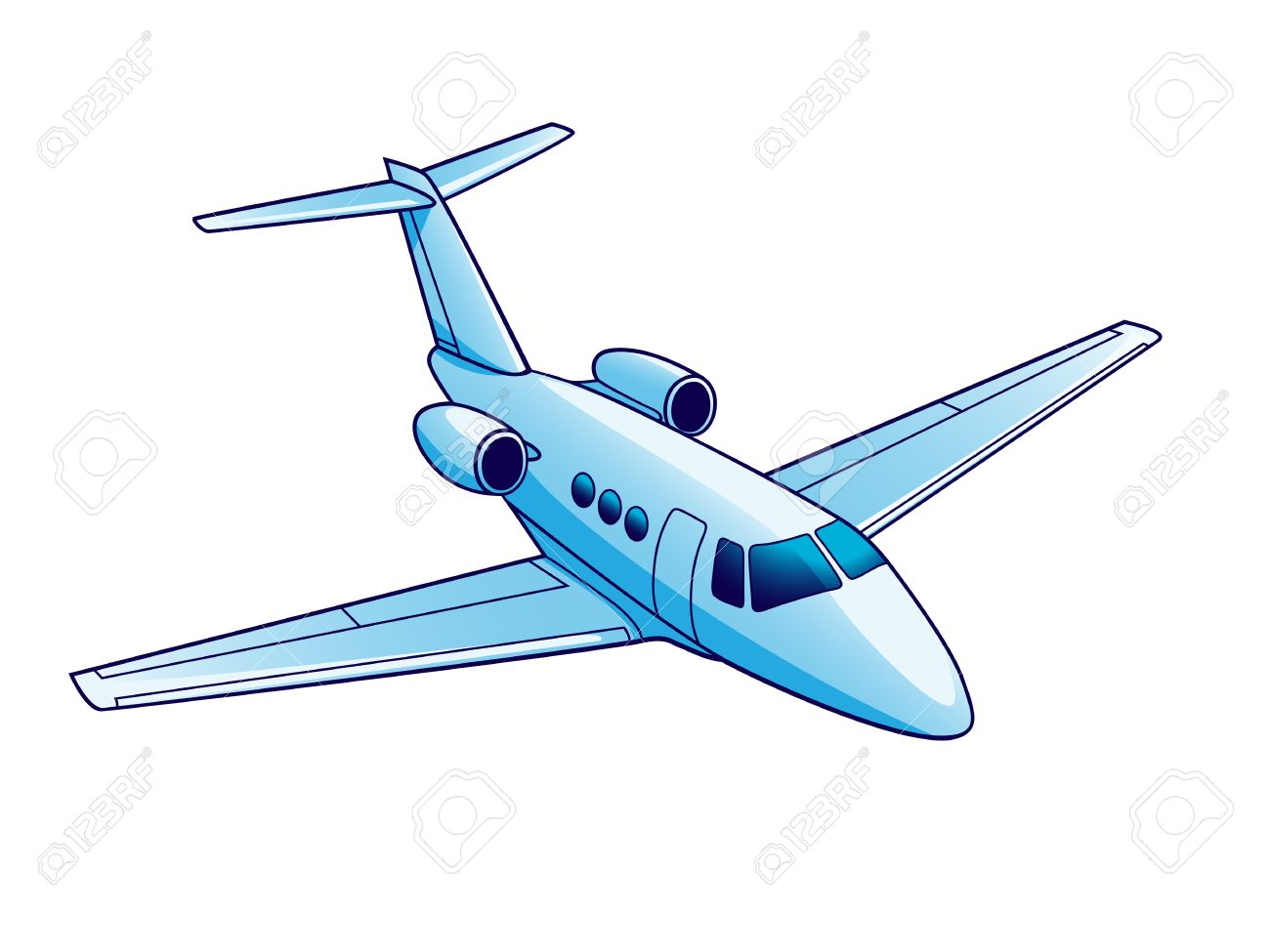 Illustration Of Airplane. Isolated On White Background. Royalty ...