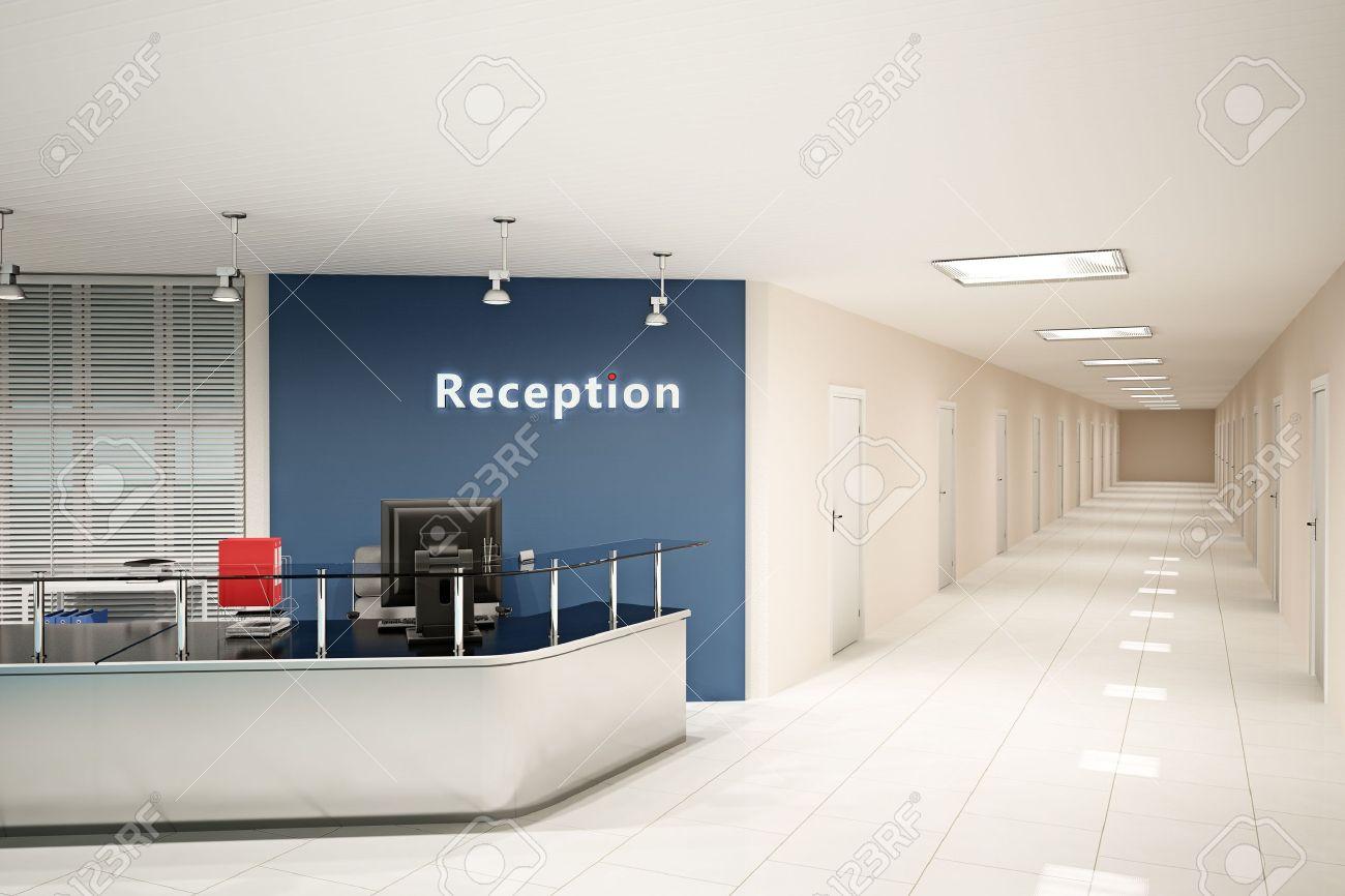 3d illustration of the modern office room stock illustration 8242918 modern office reception desk