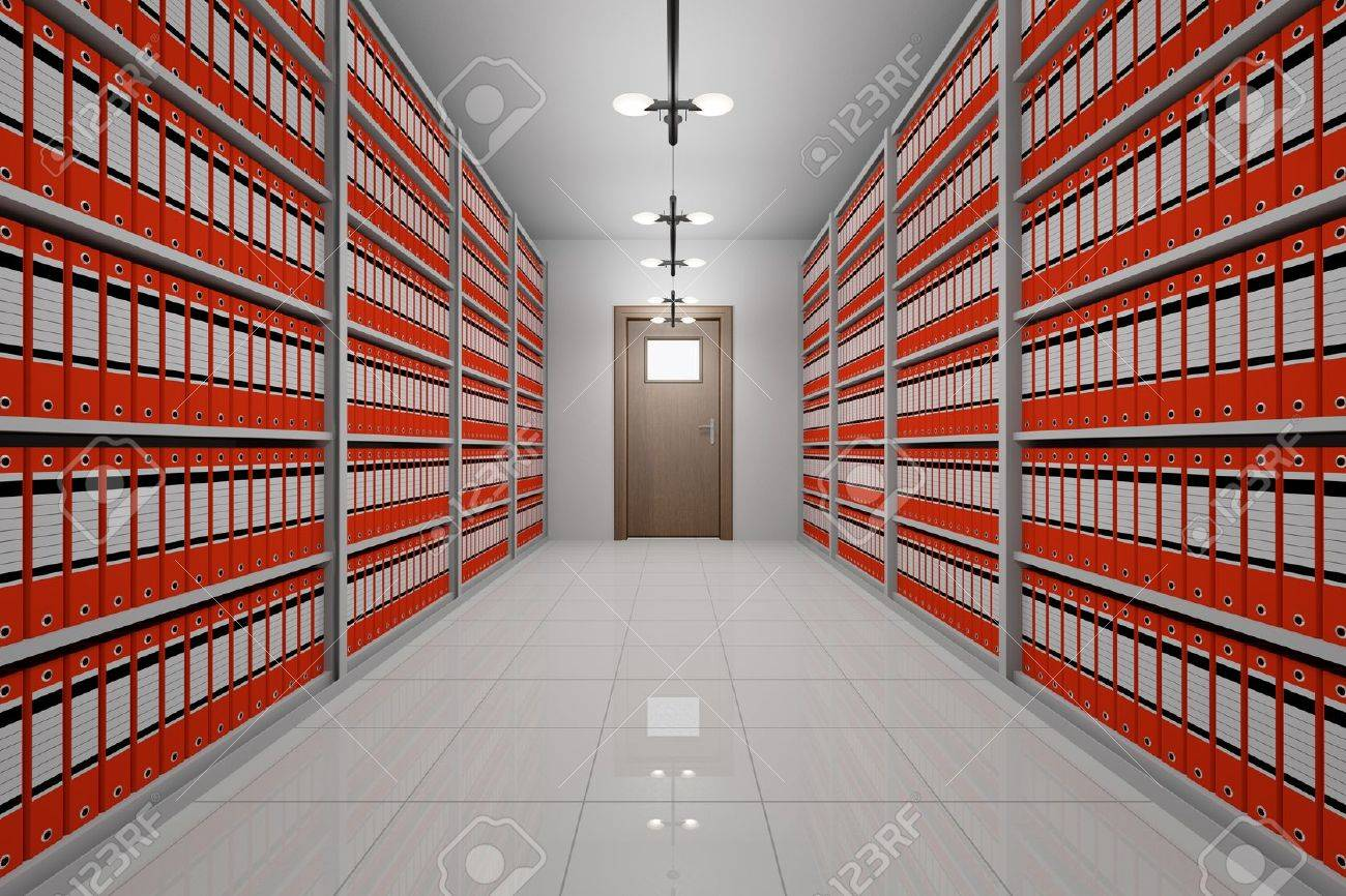 Room With Archive Of Office Documents Stock Photo, Picture And ...