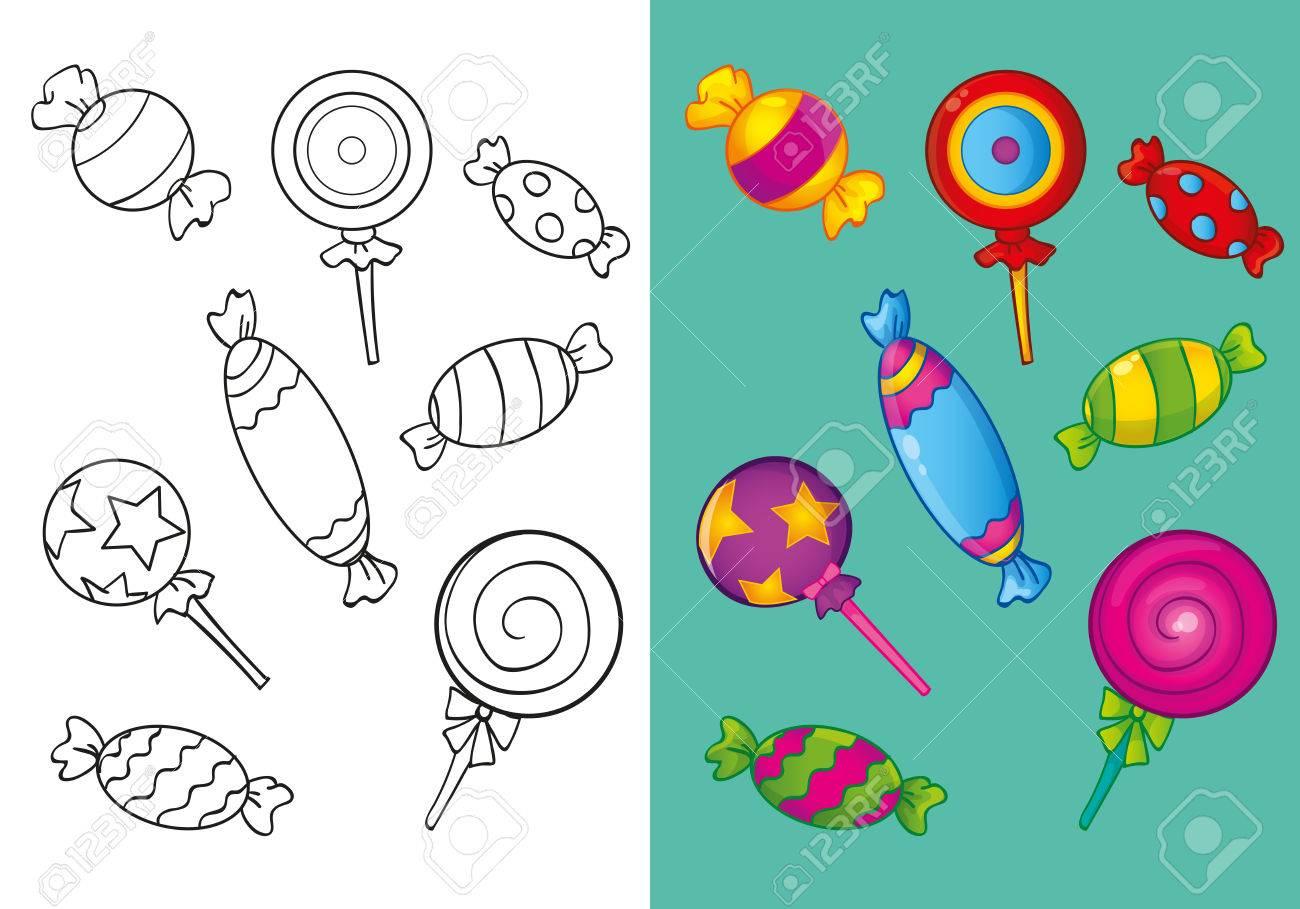 Vettoriale Illustrazione Vettoriale Di Impostare Diverse Caramelle