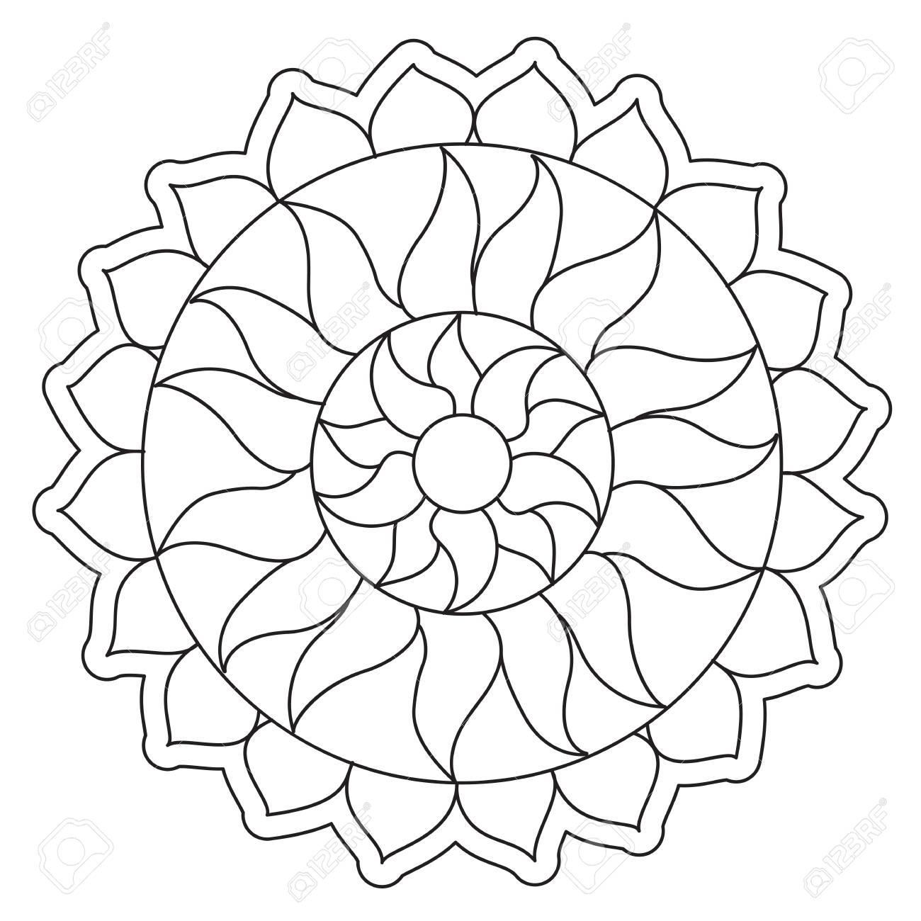 Mandala Sencilla Para Colorear. Mandalas Para Colorear Una Divertida ...