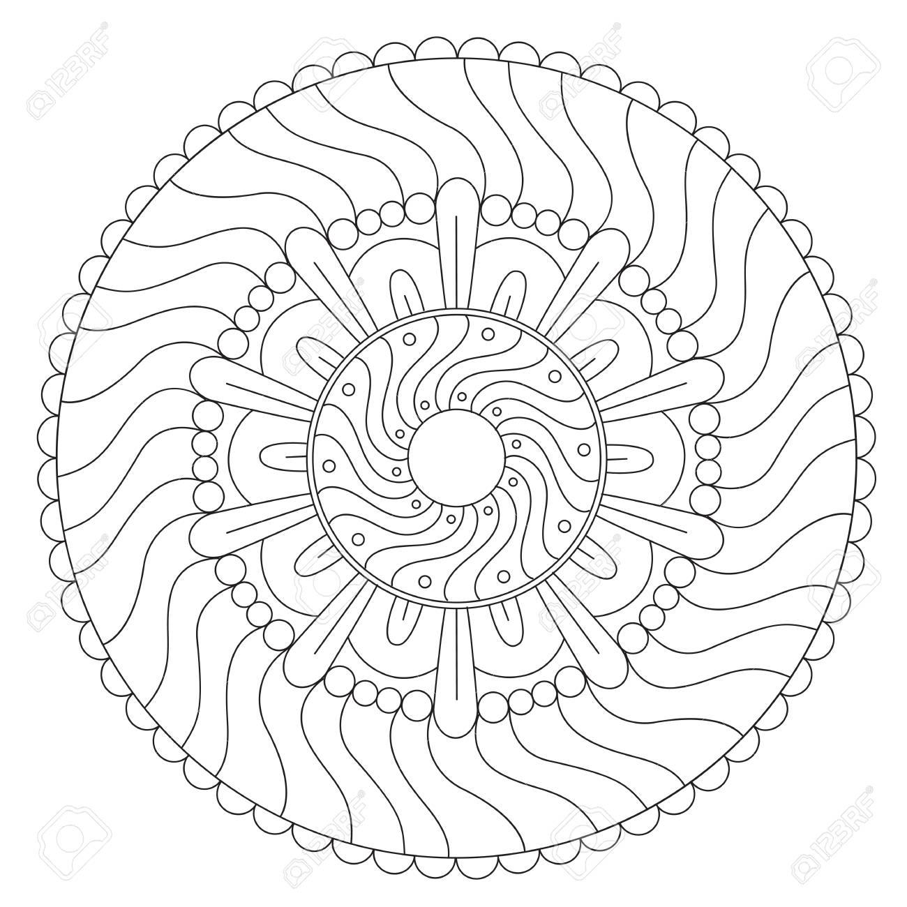 Excepcional Mandala Duro Para Colorear Patrón - Enmarcado Para ...