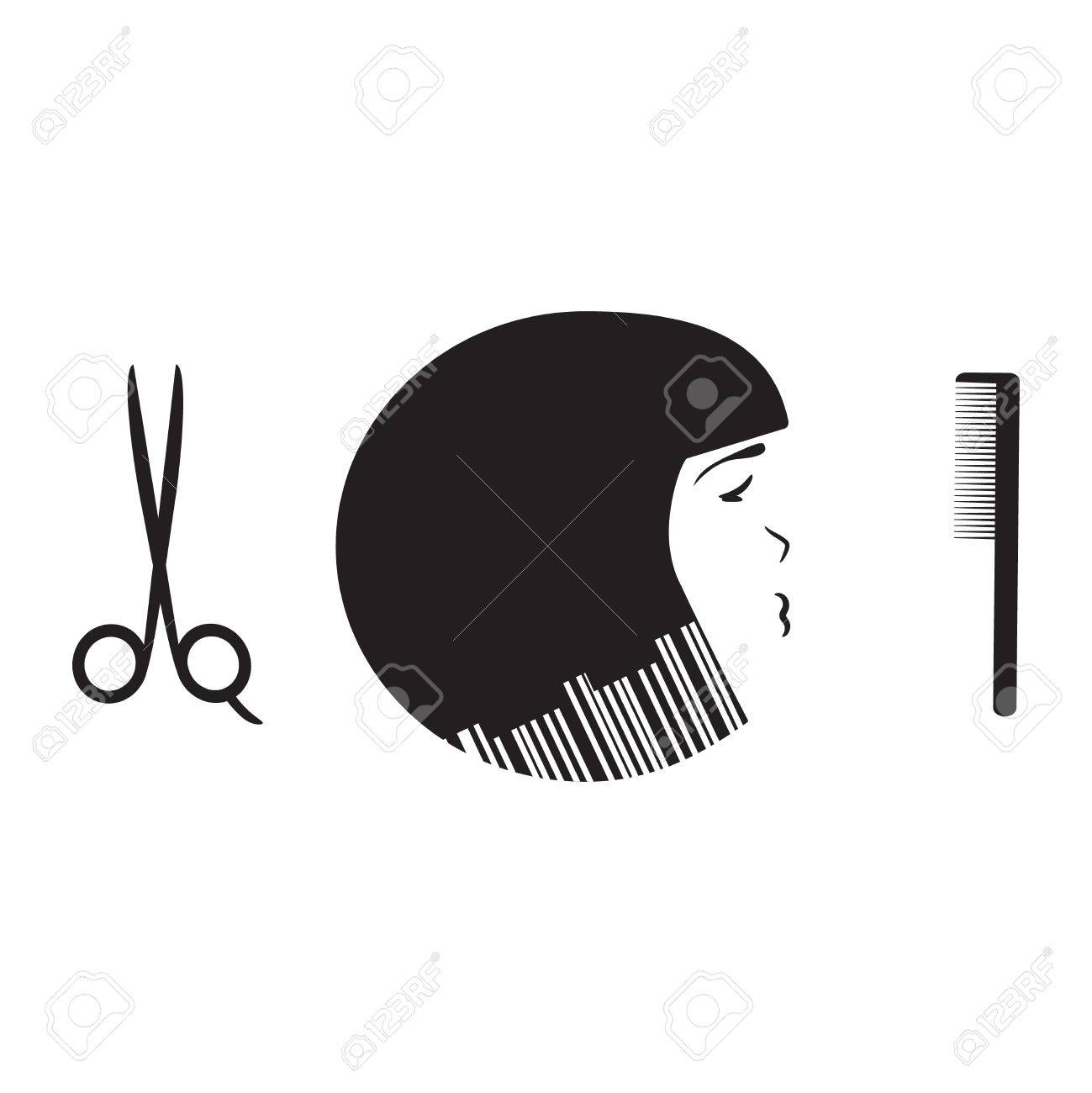 Beauty Salon Logo Template Hairdresser Emblem Cosmetic Shop Royalty Free Cliparts Vectors And Stock Illustration Image 40393033