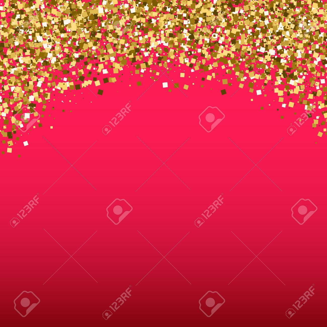 Gold Glitter Shimmery Heading Invitation Card Or Flyer With