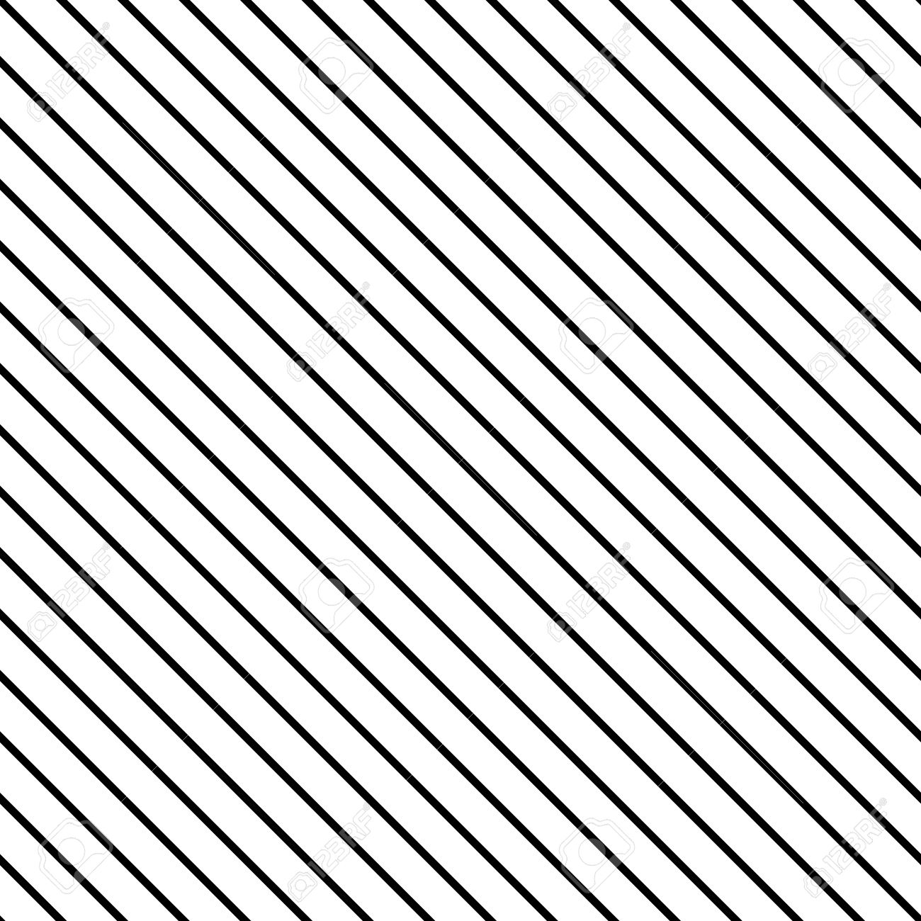 And black diagonal stripes background seamless background or wallpaper - Diagonal Stripe Seamless Pattern Geometric Classic Fine Print Line Background Stock Vector 50640349