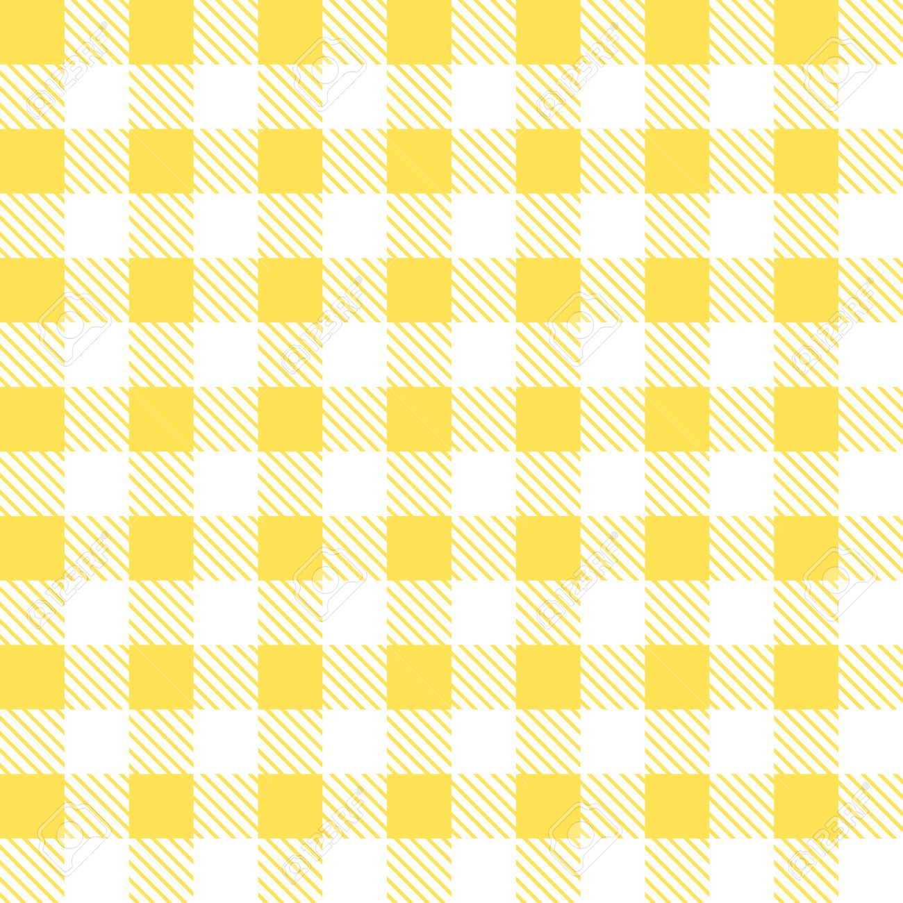 Kitchen Yellow Checkered Tablecloth Fabric Background. Stock Vector    50643717