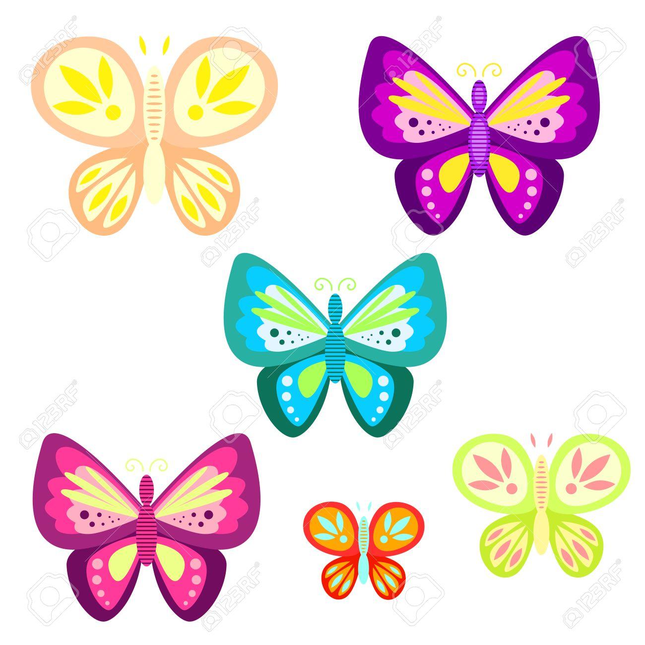 mariposa determinada ilustración vectorial de dibujos animados