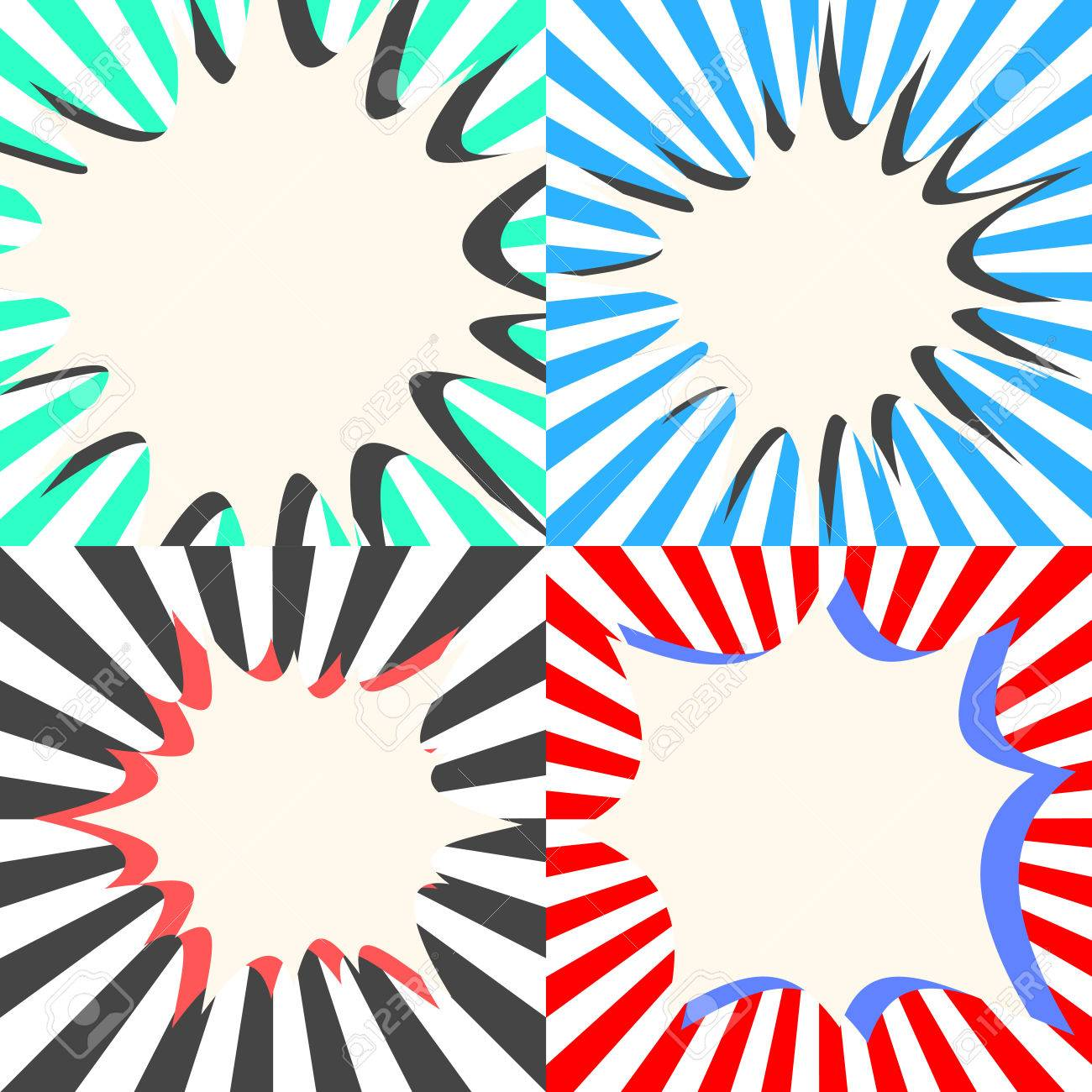 comic book vector bubble effects set sunburst ray background rh 123rf com sunburst vector free download sunburst vector png