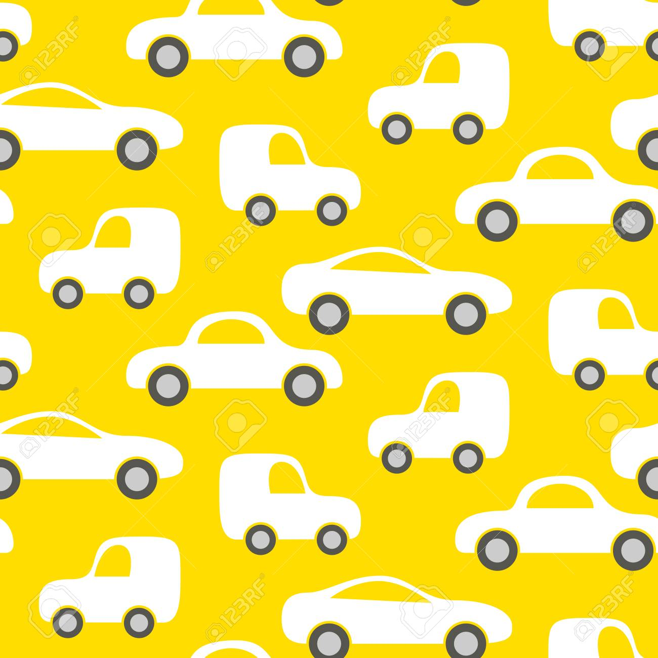 c41dd336721ad Car cute baby vector seamless pattern. Kid fabric and apparel..