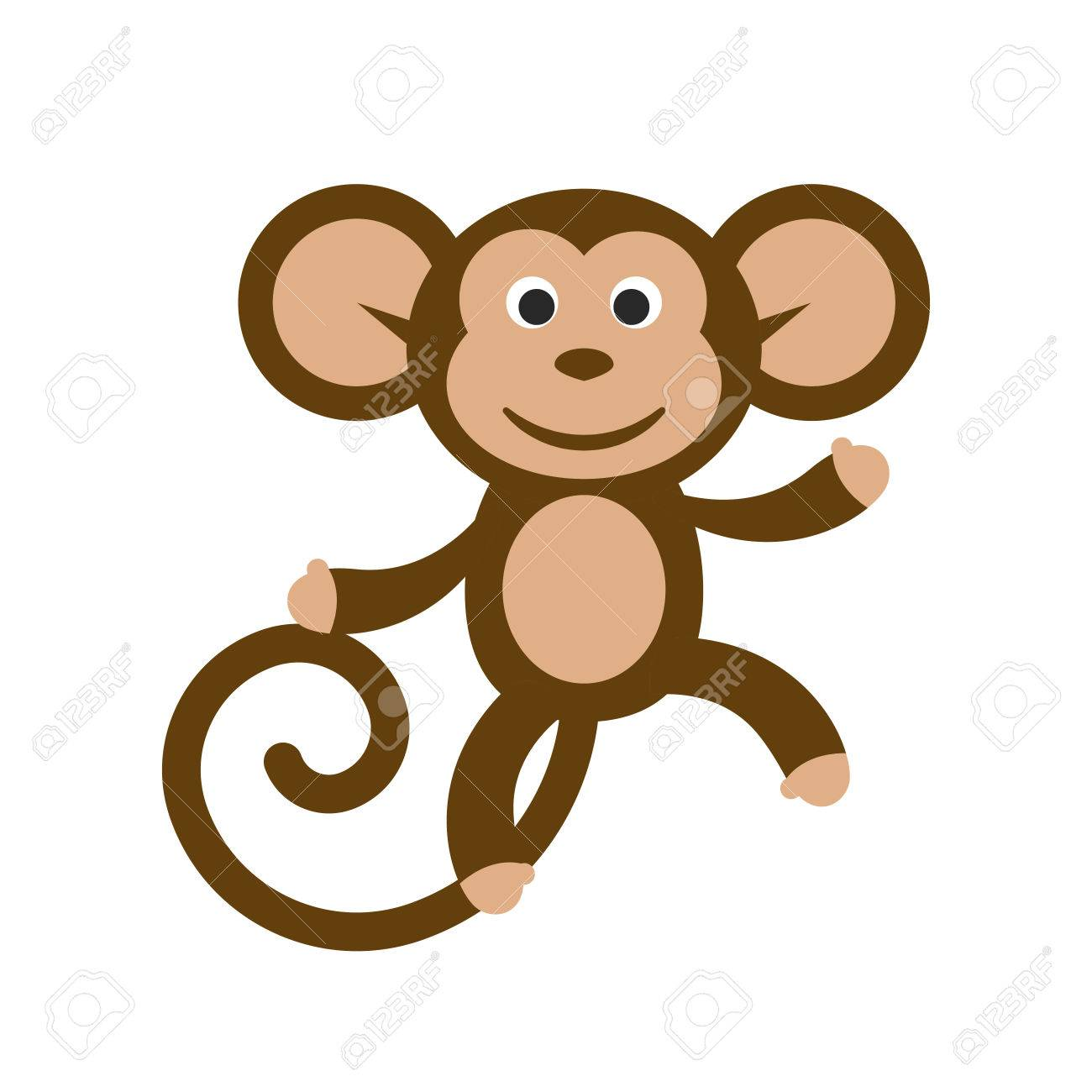 happy cartoon monkey vector illustration fun dancing monkey rh 123rf com cartoon monkey faces clip art cartoon baby monkey clip art