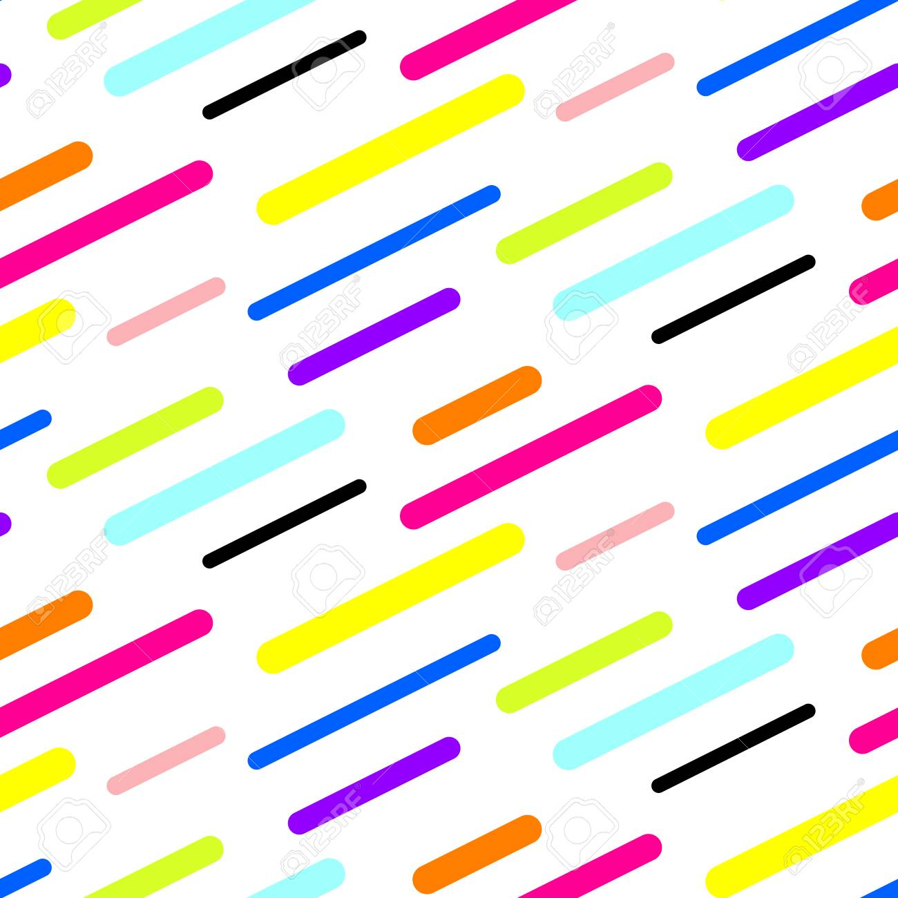 Abstract Diagonal Sticks Seamless Vector Pattern Colorful Neon Simple Shapes Background For Website Wallpaper
