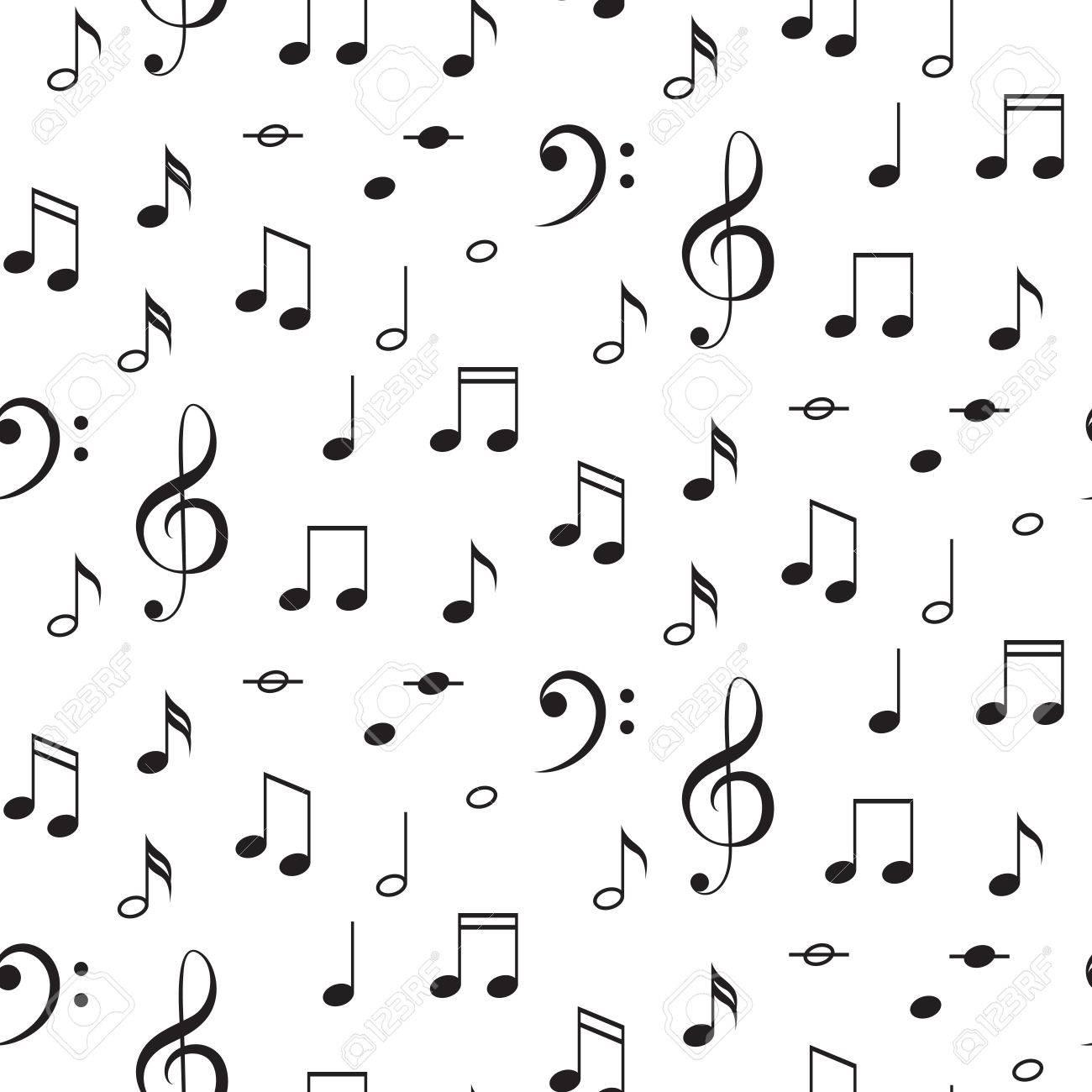 Notas musicales y fondo