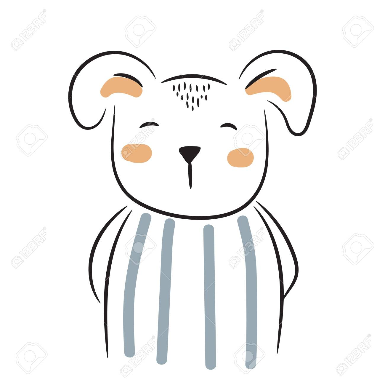 Cute Doodle Puppy Illustration Simple Hand Drawn Baby Animal Royalty Free Cliparts Vectors And Stock Illustration Image 146908072
