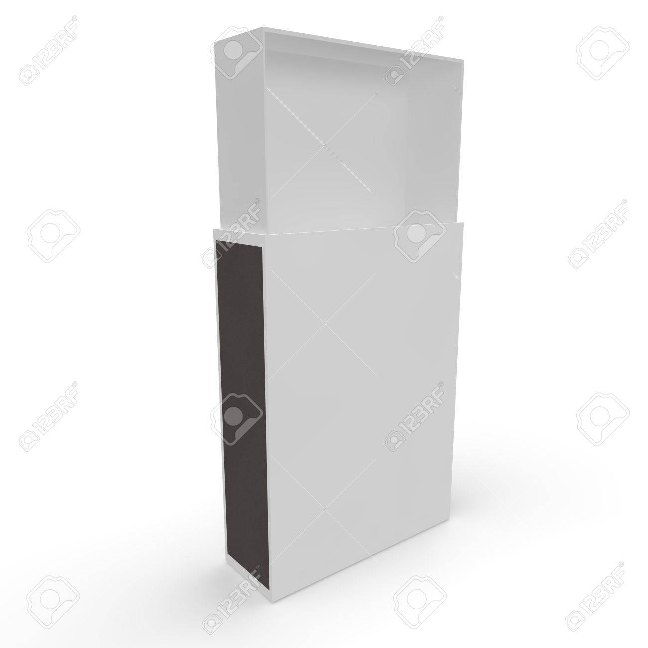 Template - Empty Matchbox. Isolated White Background Stock Photo ...