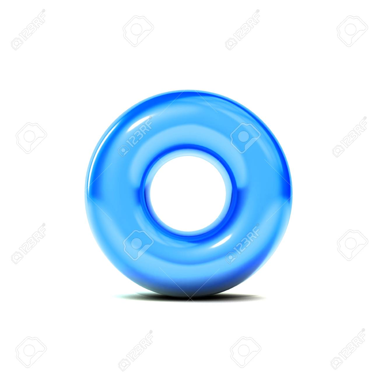 glossy letter o bubble font isolated on white background 3d rendering stock photo 89965607