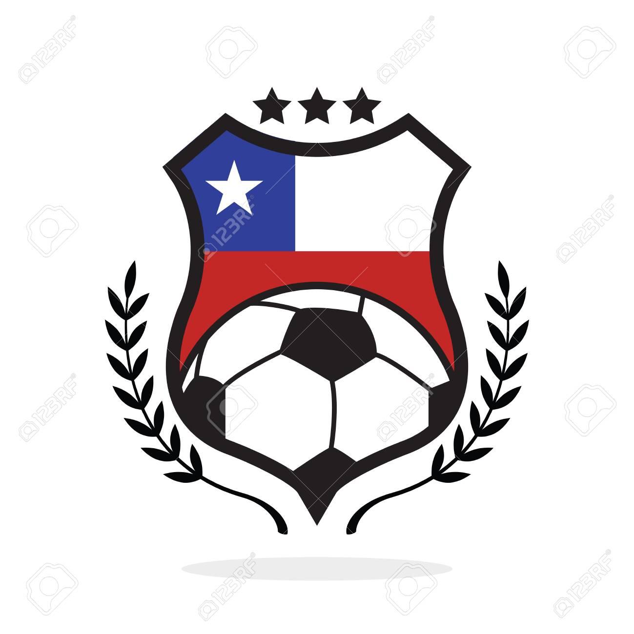 chile national flag football crest a logo type illustration royalty rh 123rf com honduras soccer badge dream league soccer honduras logo