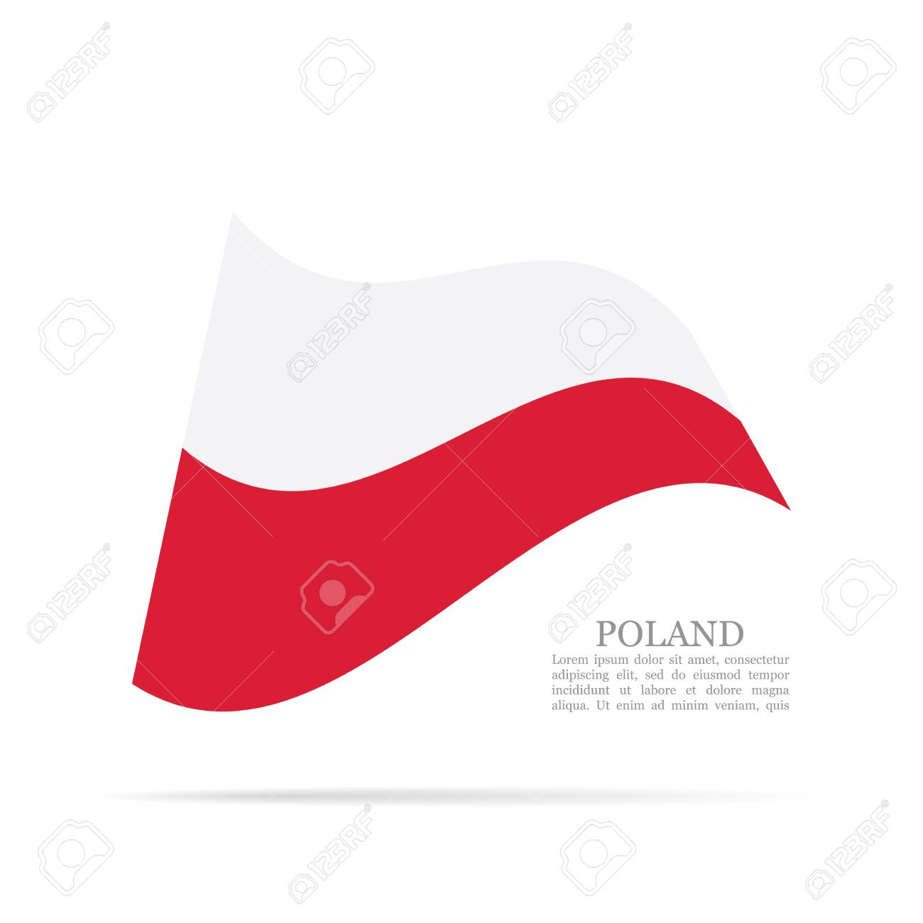 poland national flag waving vector icon stock photo picture and