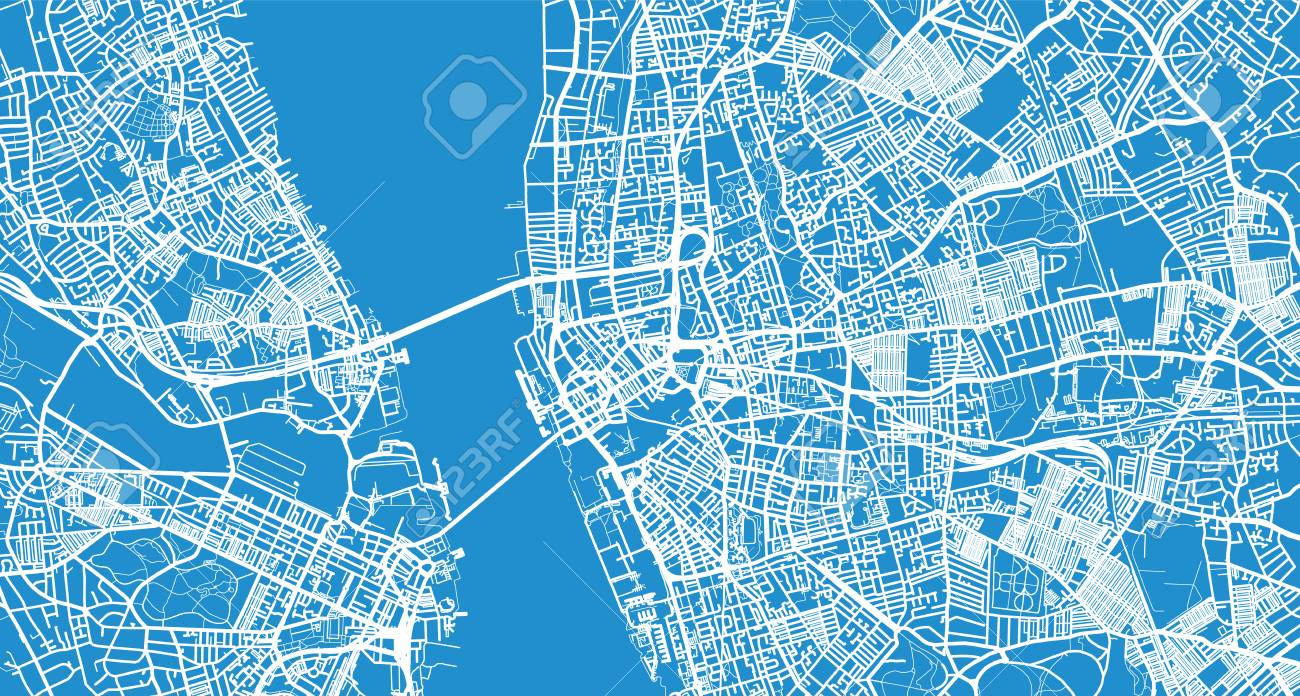 Urban Vector City Map Of Liverpool, England Stock Photo, Picture And ...