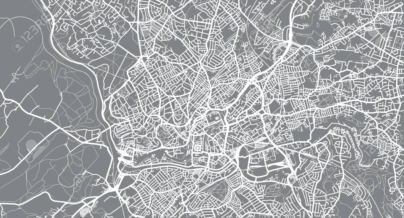 Map Of Bristol England.Urban Vector City Map Of Bristol England