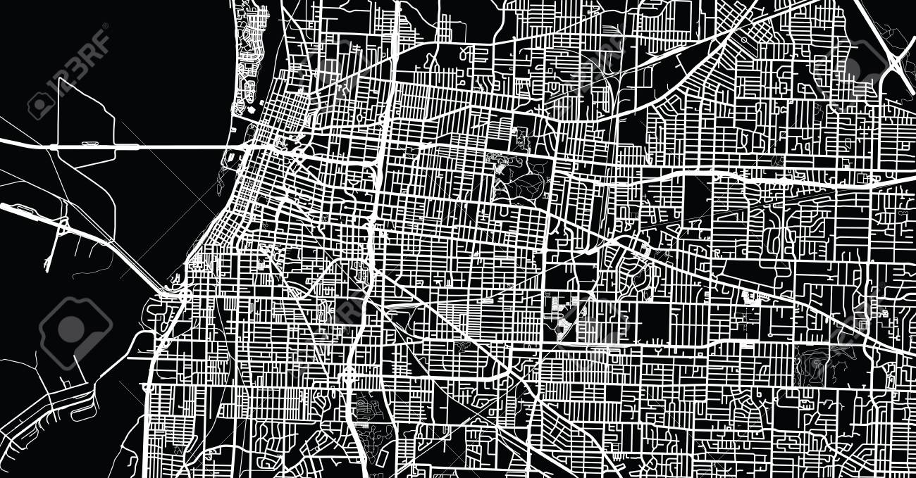 urban vector city map of memphis tennessee usa stock vector 93637930