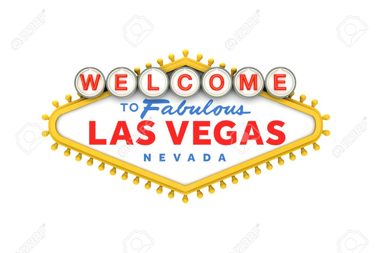 Welcome To Las Vegas Classic Sign. 3D Rendering Stock Photo, Picture ...