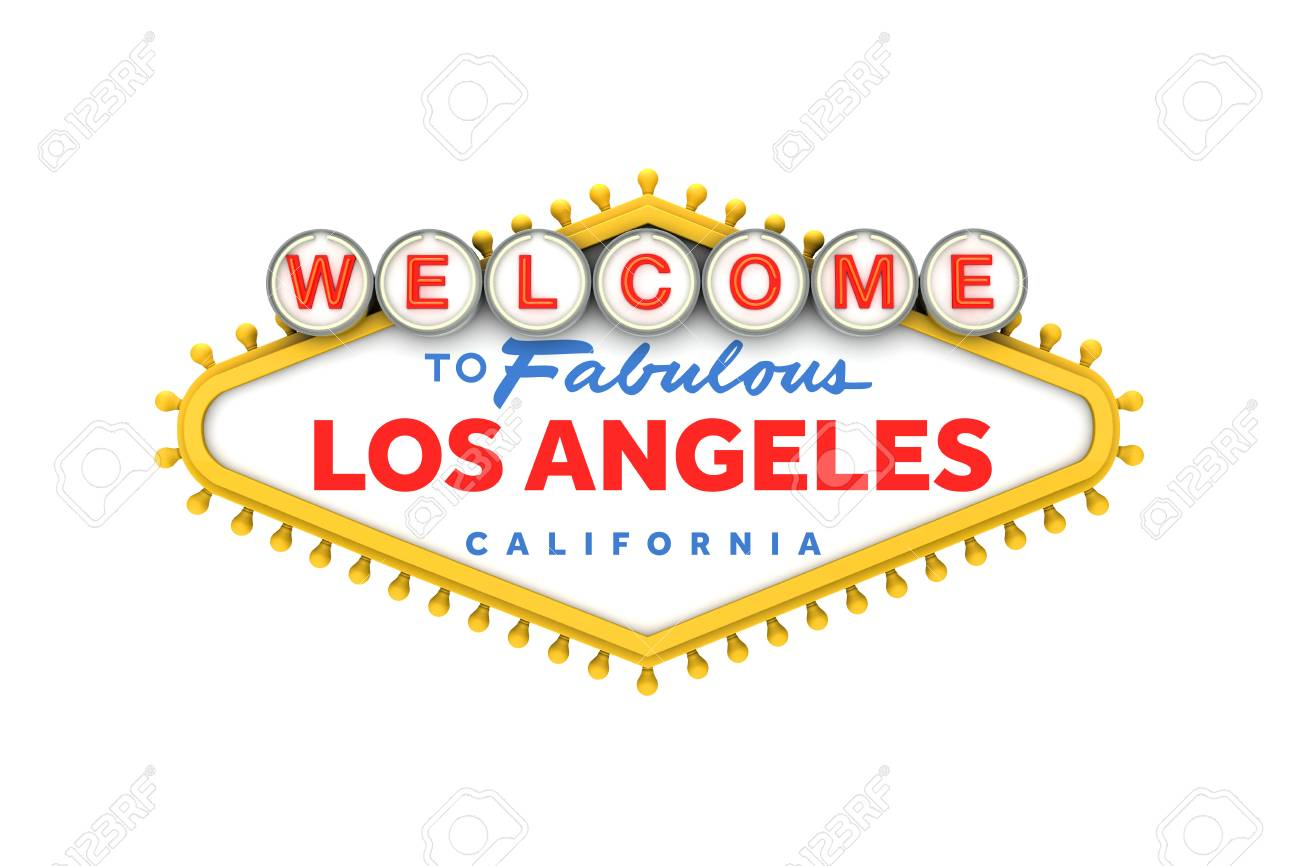 Welcome To Los Angeles California Sign In Classic Las Vegas Stock