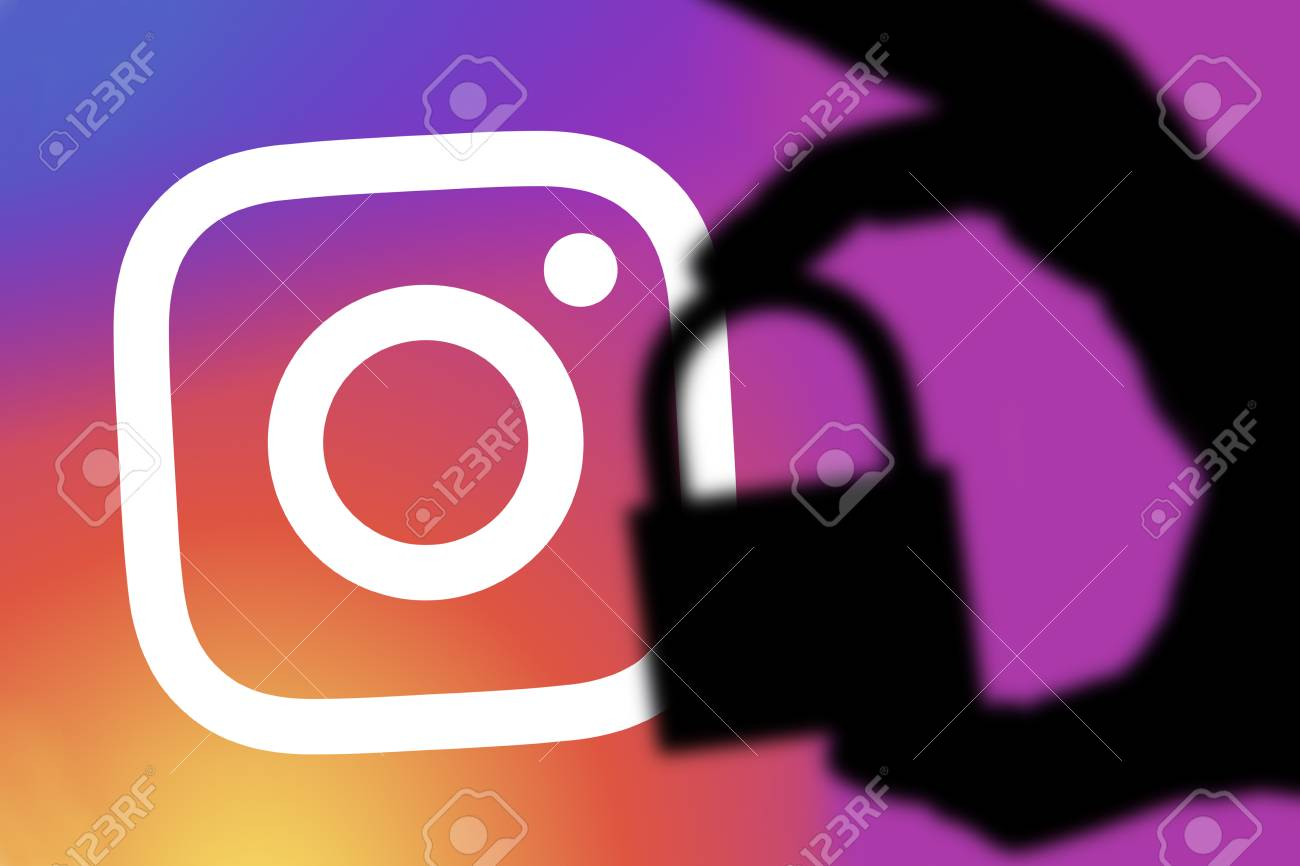 London Uk February 5th 2018 Instagram Security Concept