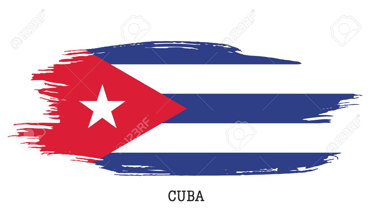 High Quality Cuba Flag Vector Grunge Paint Stroke Illustration. Stock Vector   95890927