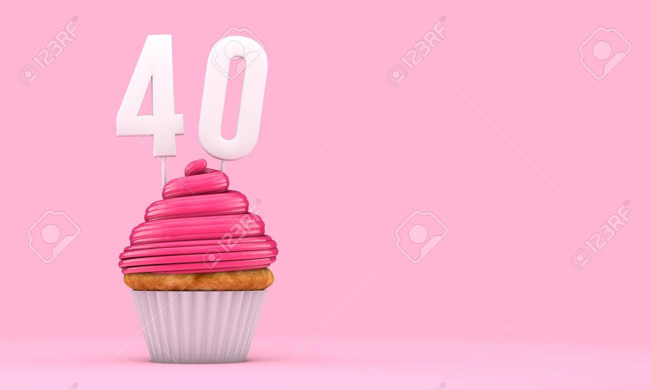 Numéro D 39 Anniversaire De Mariage De 40 Ans 3d Rendu 3d