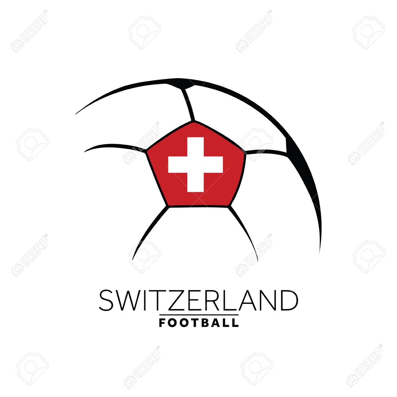 soccer football minimal design with switzerland flag royalty free Switzerland Chocolate soccer football minimal design with switzerland flag stock vector 99155928