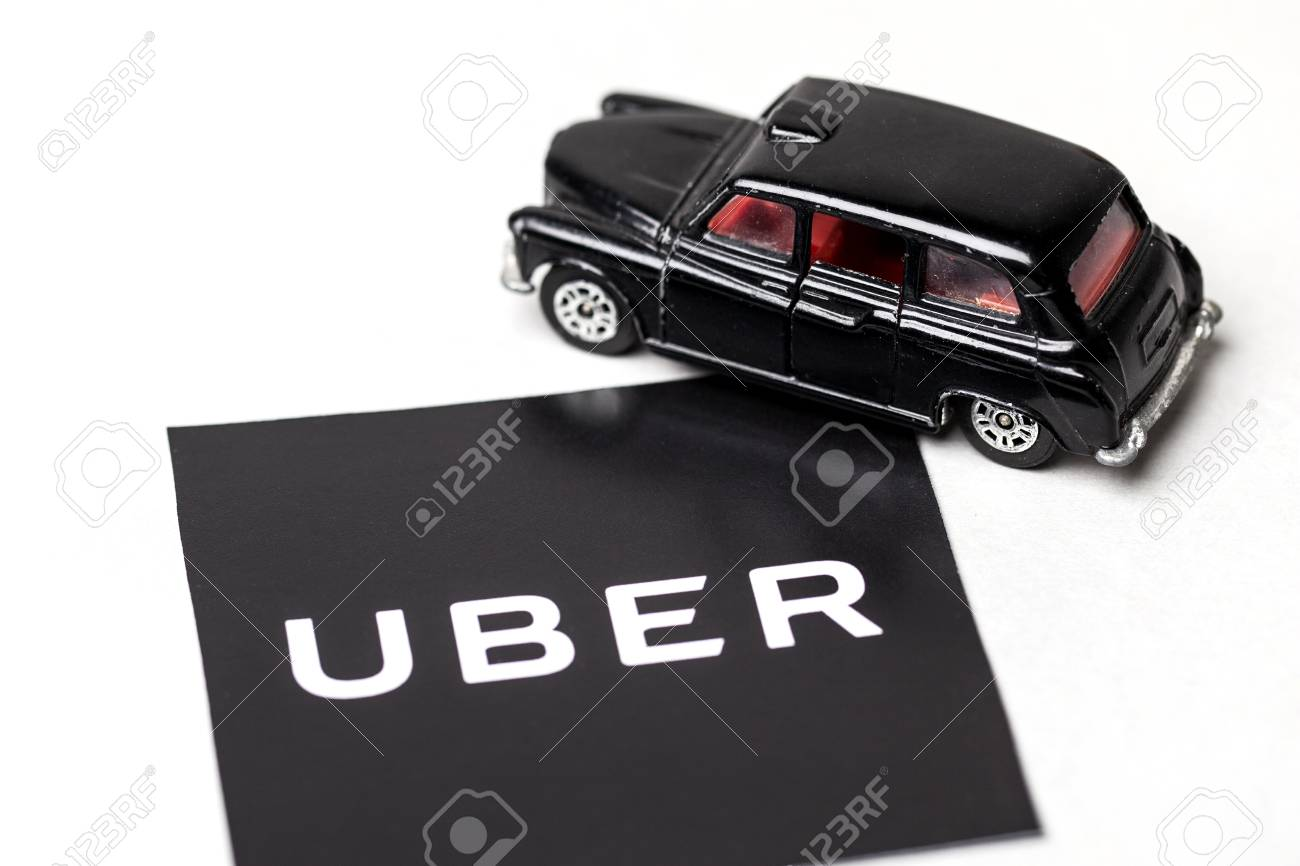 London, UK - MARCH 23rd 2017: A photograph of the Uber logo with