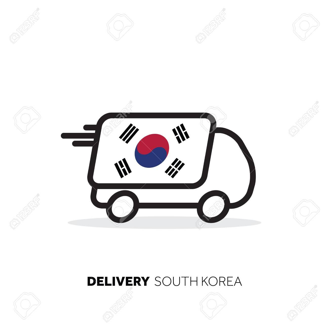 South Korea delivery van  Country logistics concept