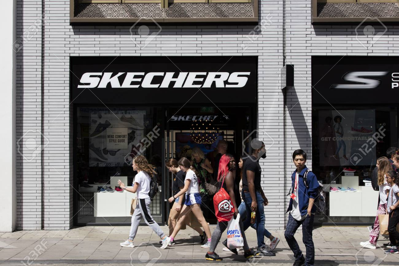 LONDON, UK - JULY 31th 2018: Skechers